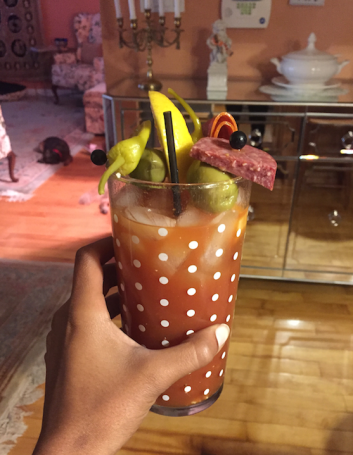 bloody mary crazy garnishes