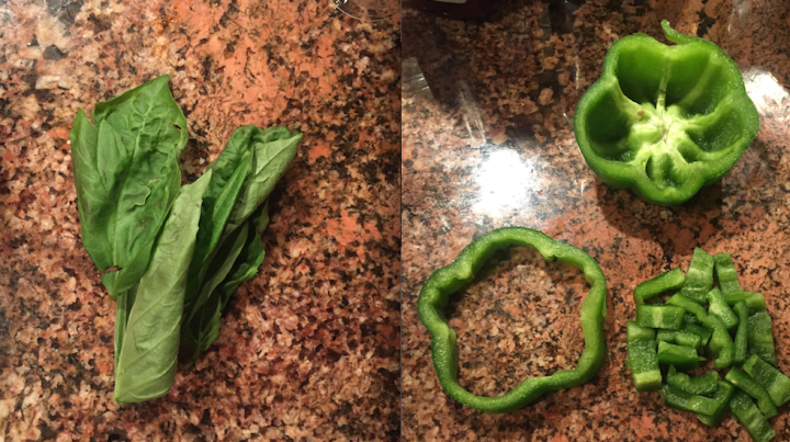 basil:pepper